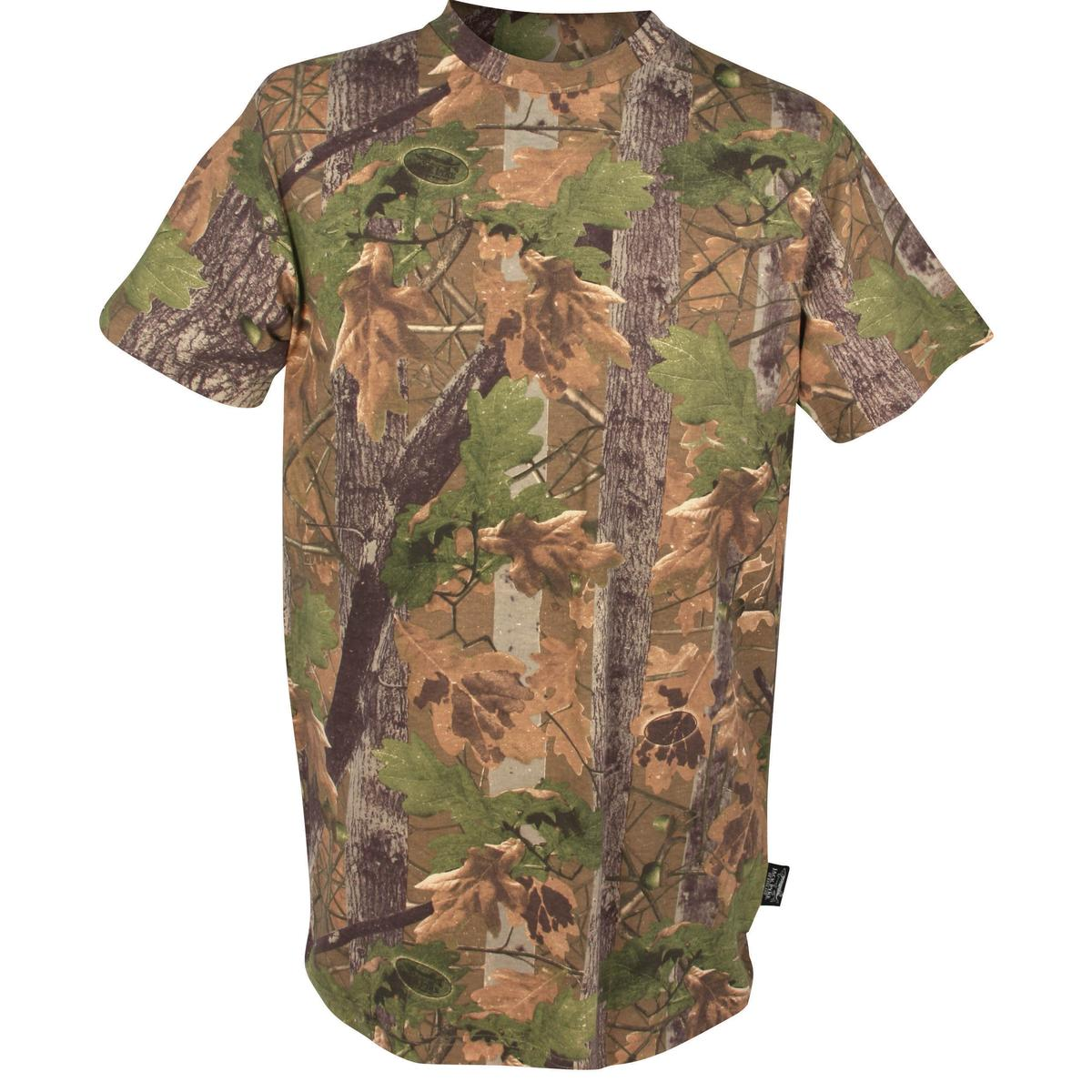 JACK PYKE SHORT SLEEVE T-SHIRT MENS S-3XL ENGLISH OAK EVO CAMO HUNTING CLOTHING