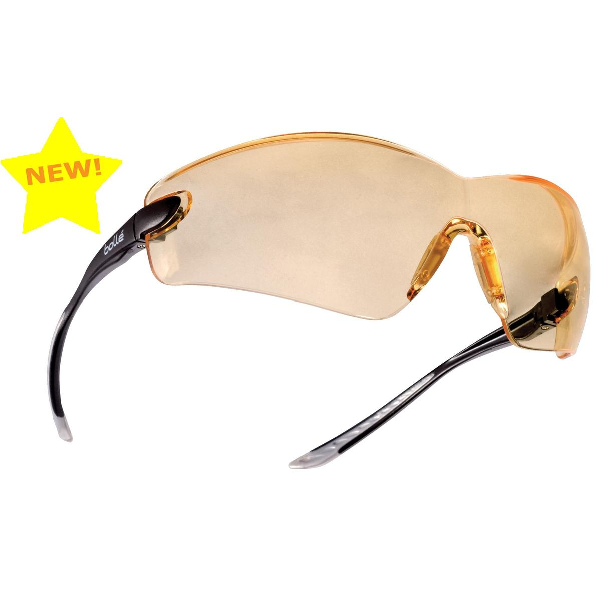 Bolle Cobra Platinum Safety Glasses Clear Lenses Wrap-around Fit Anti-scratch